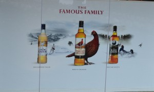 Famous Grouse more well known brands of blended Scotch Whisky.